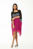 Juna Silk T Dress - Fuchsia