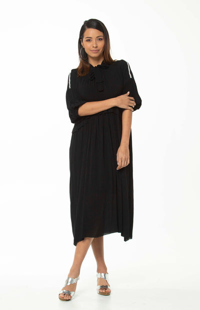 Juna Demelza Tie  Dress - Black