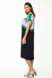 Juna Strip Dress - Malachite