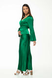 Juna Drape Wrap Jacket - Emerald