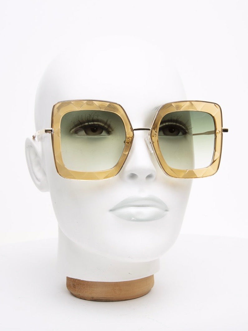 Happy To Sit On Your Face Sunglasses - Rosaria Gold