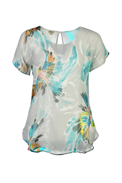 Vesta Silk Tee - Skybird was $188 now $158