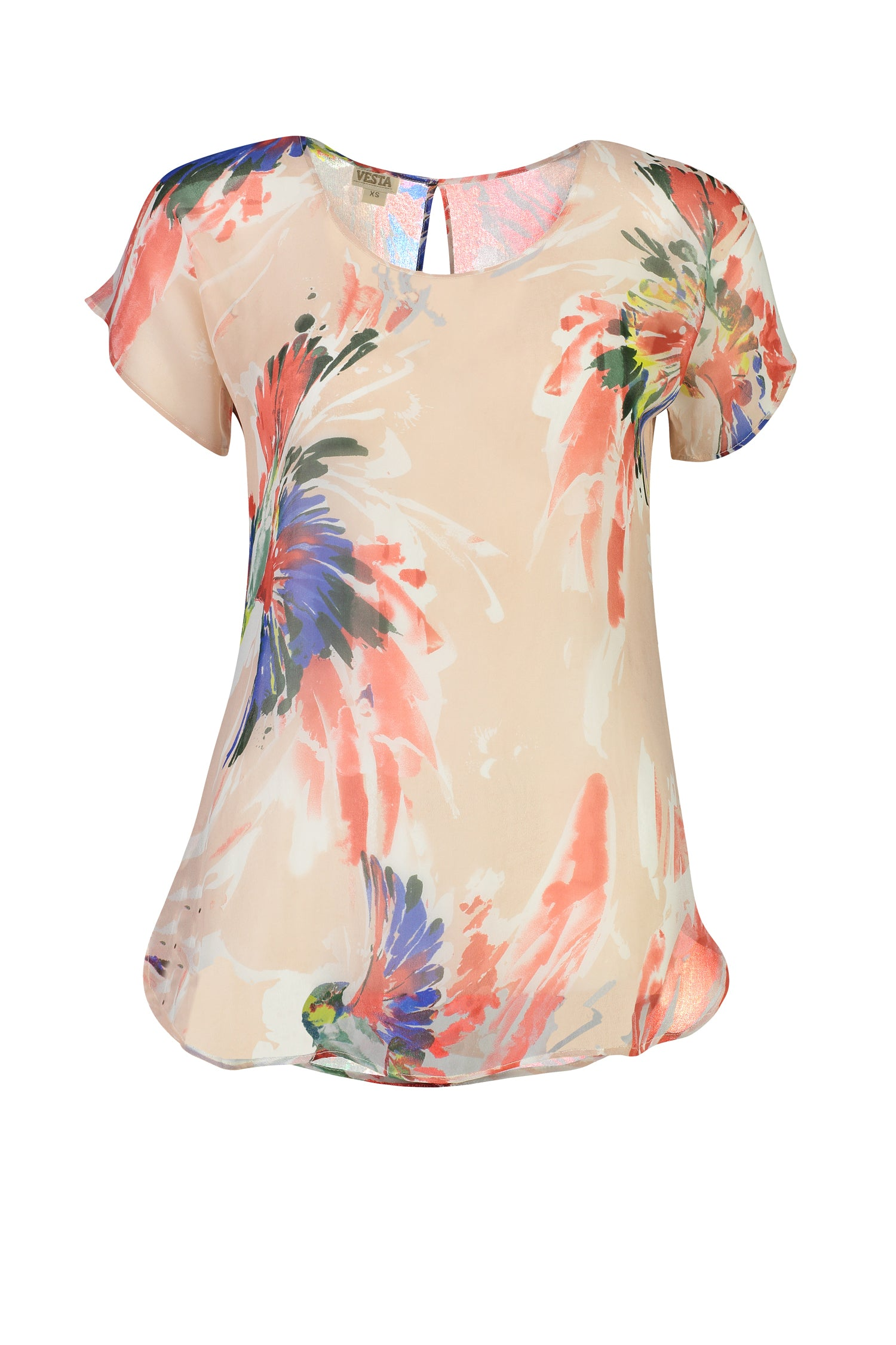 Vesta Silk Tee - Firebird was $188 now $158