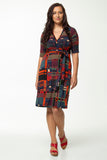 Vesta Wrap Dress - Matrix