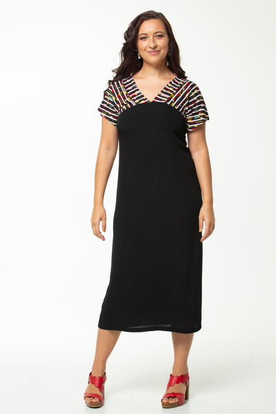 Vesta V Mezzo Dress  -  Stripey