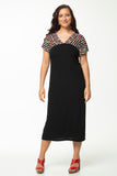 Vesta V Mezzo Dress  -  Stripey was $268 now $198