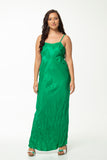 Vesta Goddess Slip Dress  - Emerald
