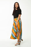 Vesta Carousel Skirt - Orange Stripe