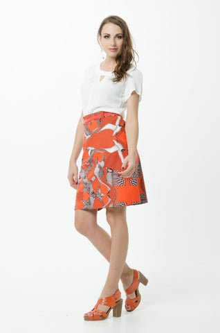 Vesta Bird Skirt - Fire was $168 now $148