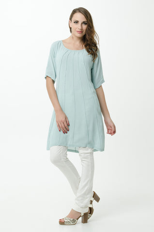 Vesta Pintuck Tunic - Duck Egg was $188 now $168