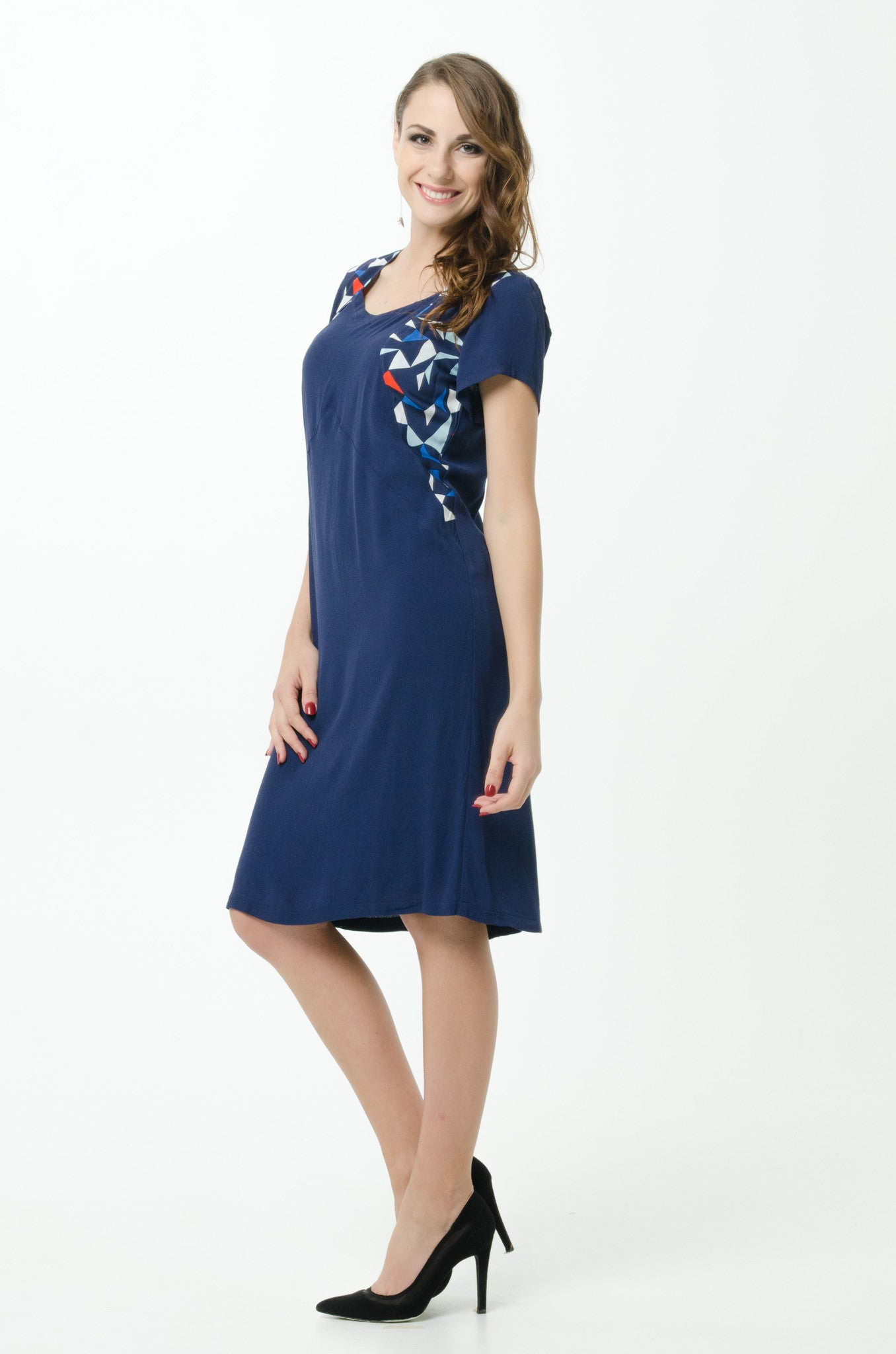 Vesta Inset Dress - Nautical was $228 now $188