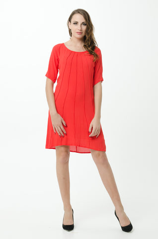 Vesta Pintuck Tunic - Poppy was $188 now $168