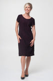 Vesta Pintuck Dress - Mulberry Wool was $228 now $188