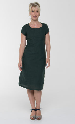 Vesta Linen Sunray Dress - Sage