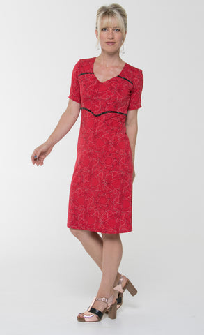 Vesta Astral Dress - Red Sky