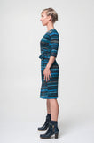 Vesta Wrap Dress - Stripey Knit was $228 now $198