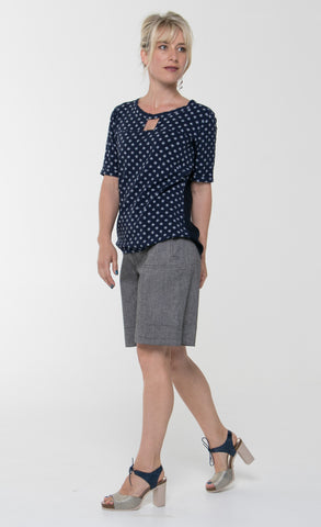 Vesta Oblong Top - Criss Cross