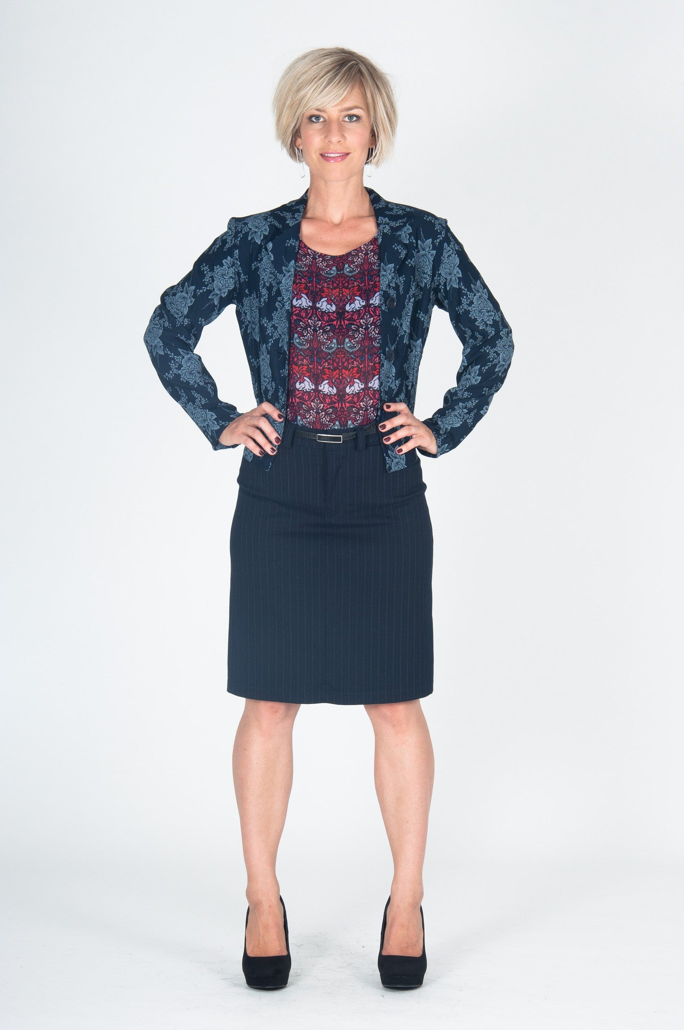 Vesta 2 Pocket Skirt - Pinstripe was $168 now $148