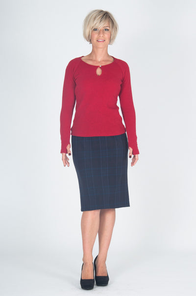 Vesta Eyelet Jumper - Red was $188 now $158
