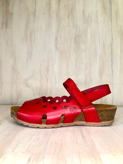 Yokono leather wedge in Red