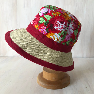 Foldable Trilby Hat- Rose
