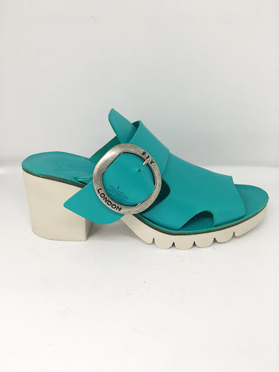Fly London Brooklyn Slide - Verdigris