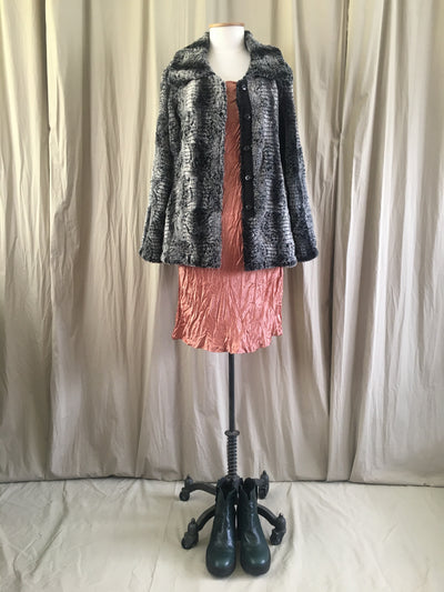 Vesta Fur Jacket - Snow Leopard