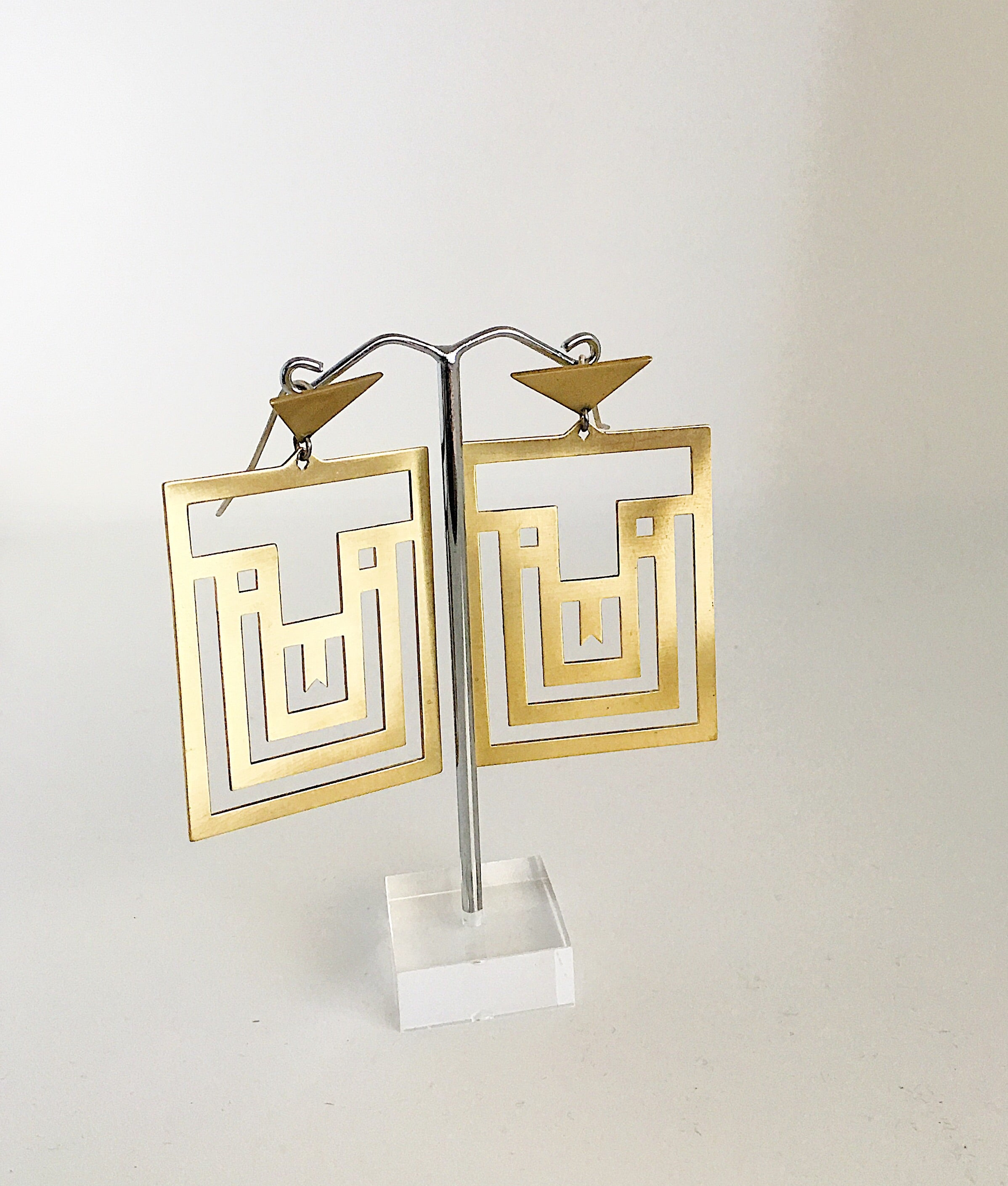 Amaze Maze Earrings by Banshee the Valkyrie