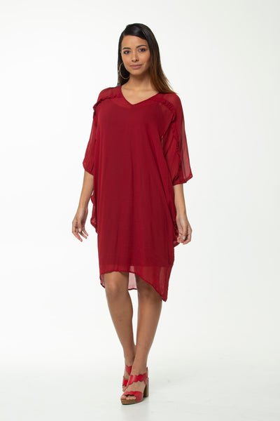 Juna Gabrielle Dress - Raspberry Ruffle