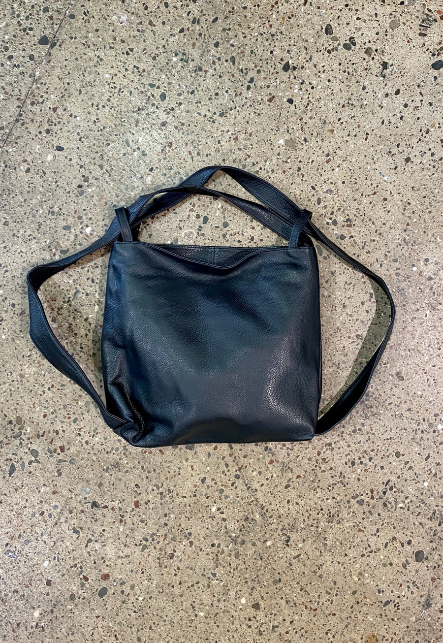 Leather Back Pack -Nero