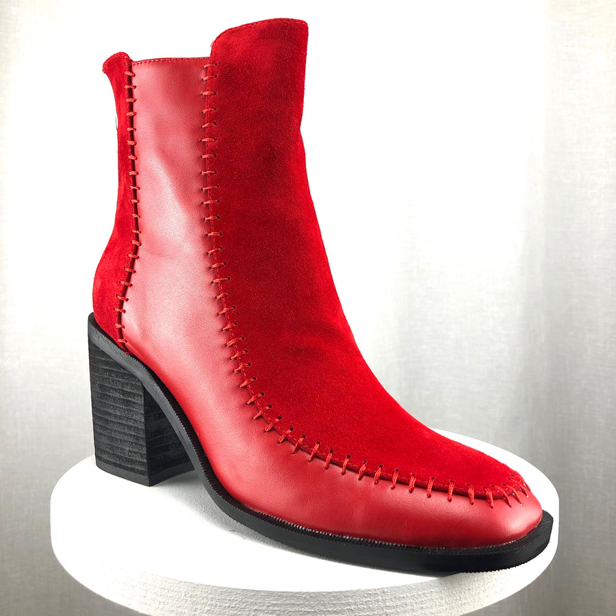 "Minx ""Latitude"" Red Suede Boot"