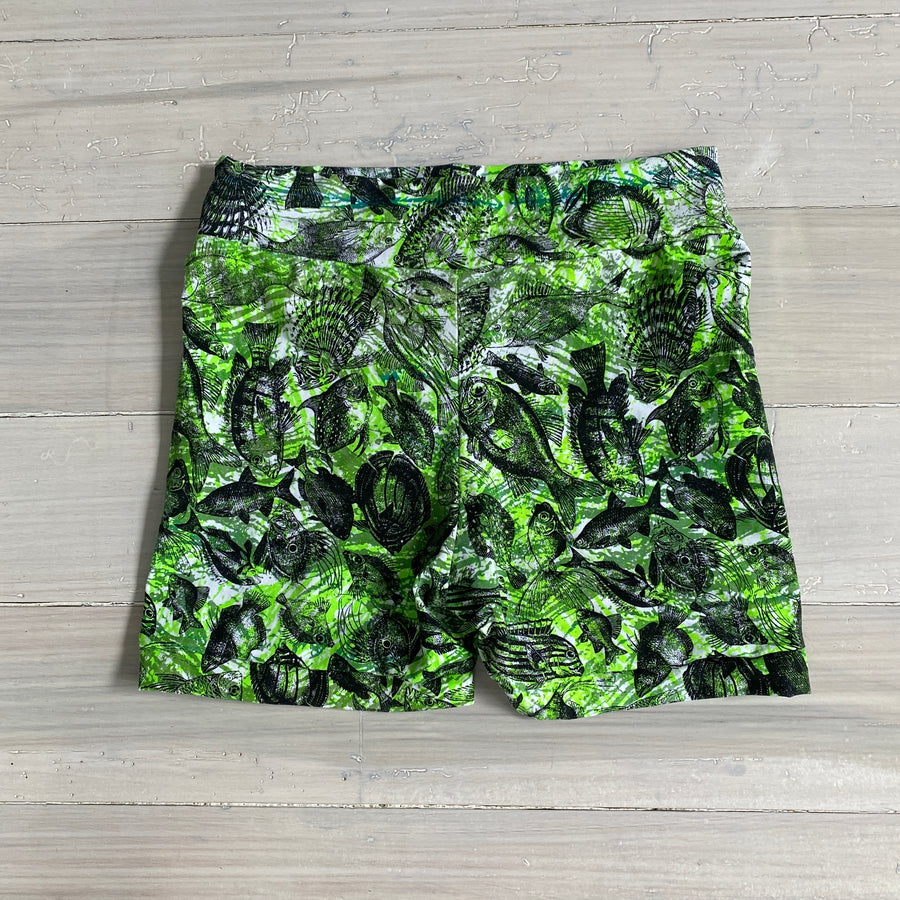 Juna Shorty Shorts - Green Fish