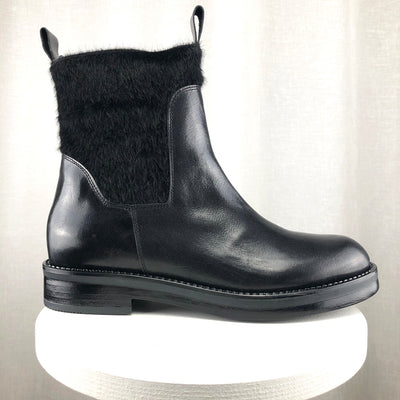 "Emporio Italia ""Nero"" Pony Ankle Boot"