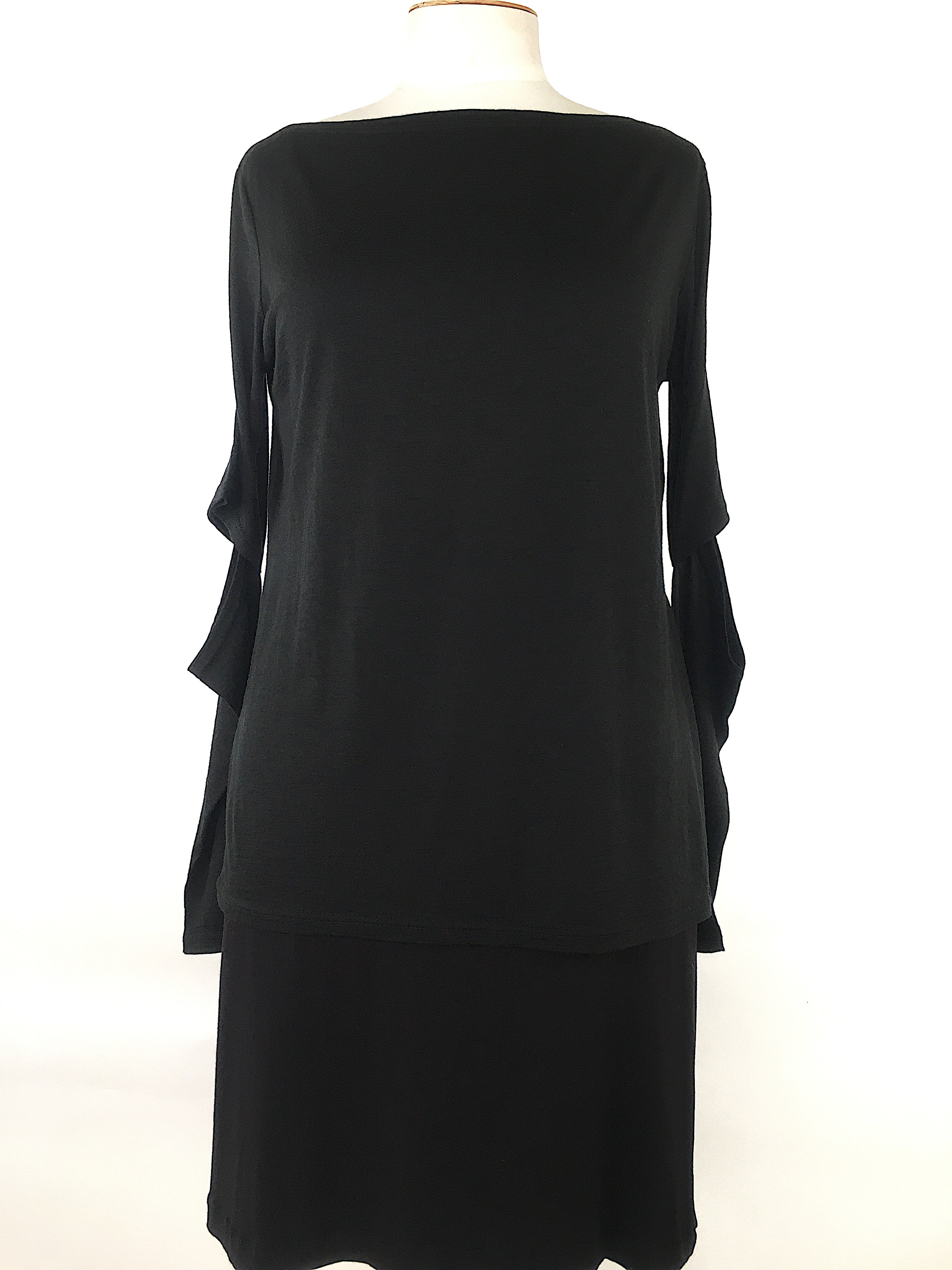 Sabatini Cutout Merino Top  - Black