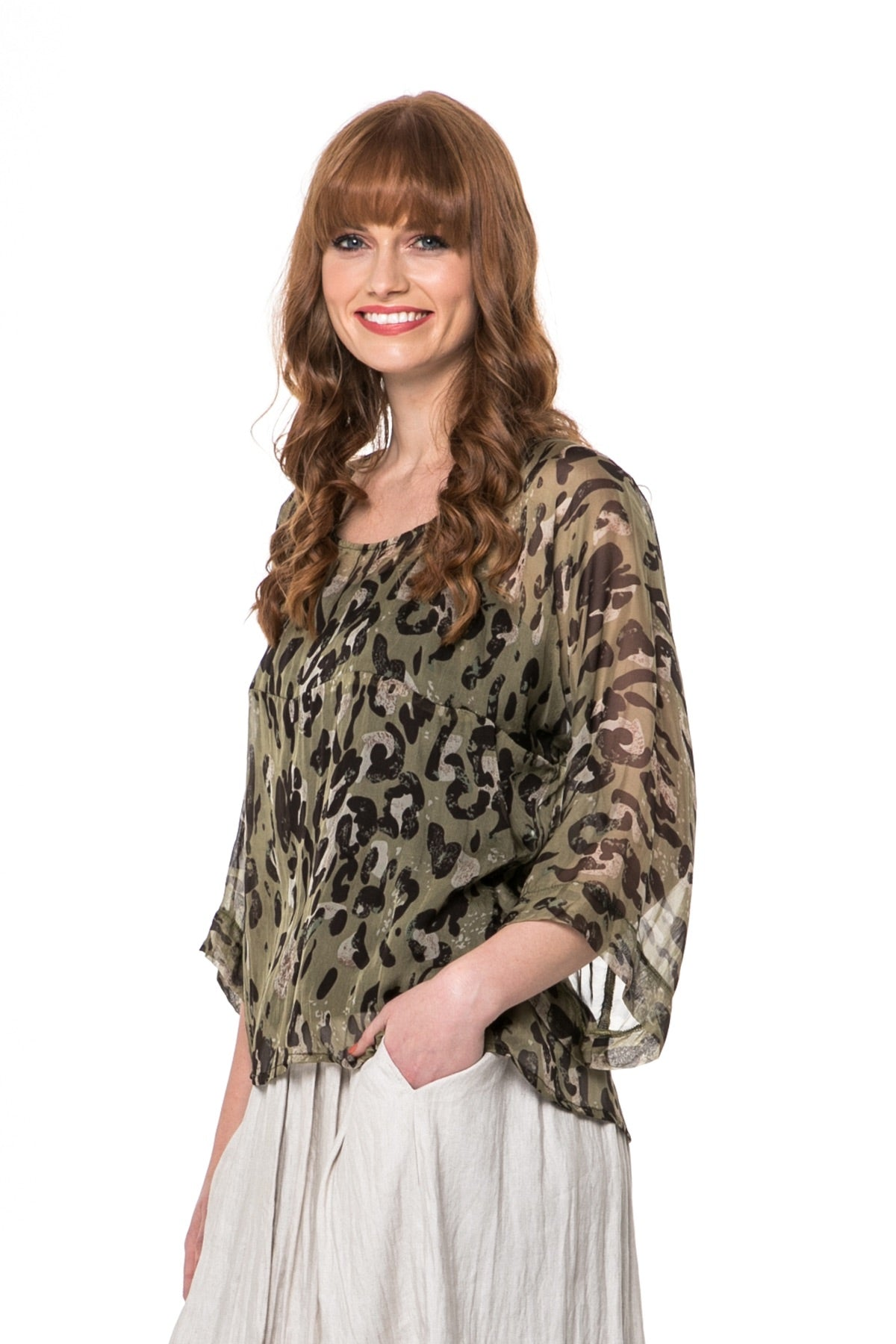Juna Silk Tuesday Top - Feline