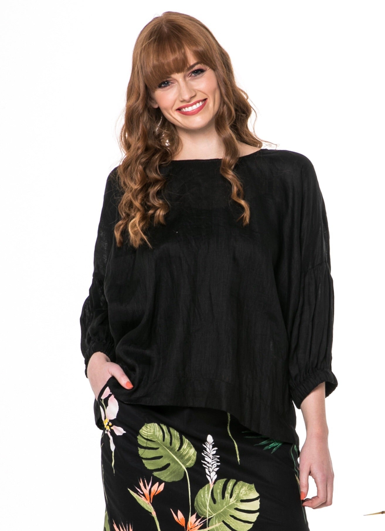 Juna Demelza Top - black