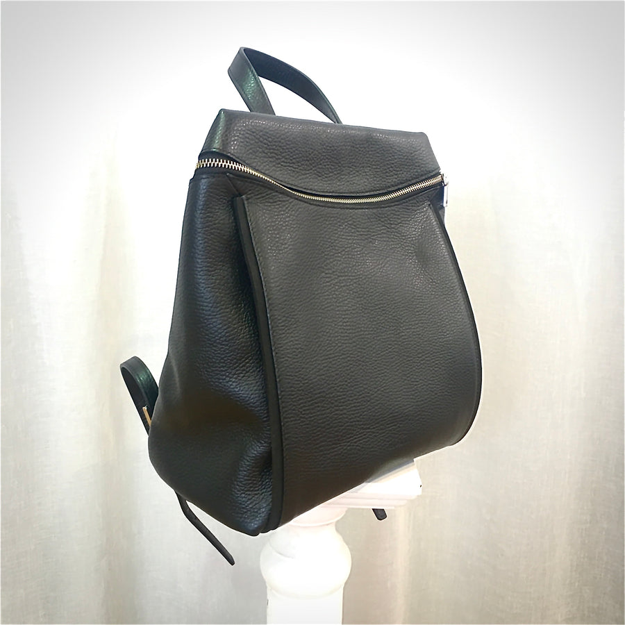 RIPANI Italian Leather Black Back Pack