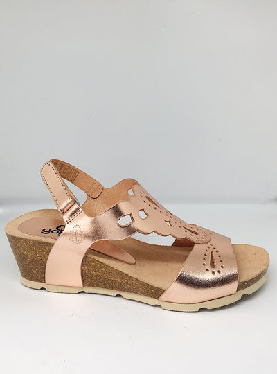 Yokono Copper Wedge Sandal