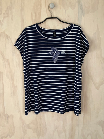 Pluto Alice T - Navy Stripe/Bird
