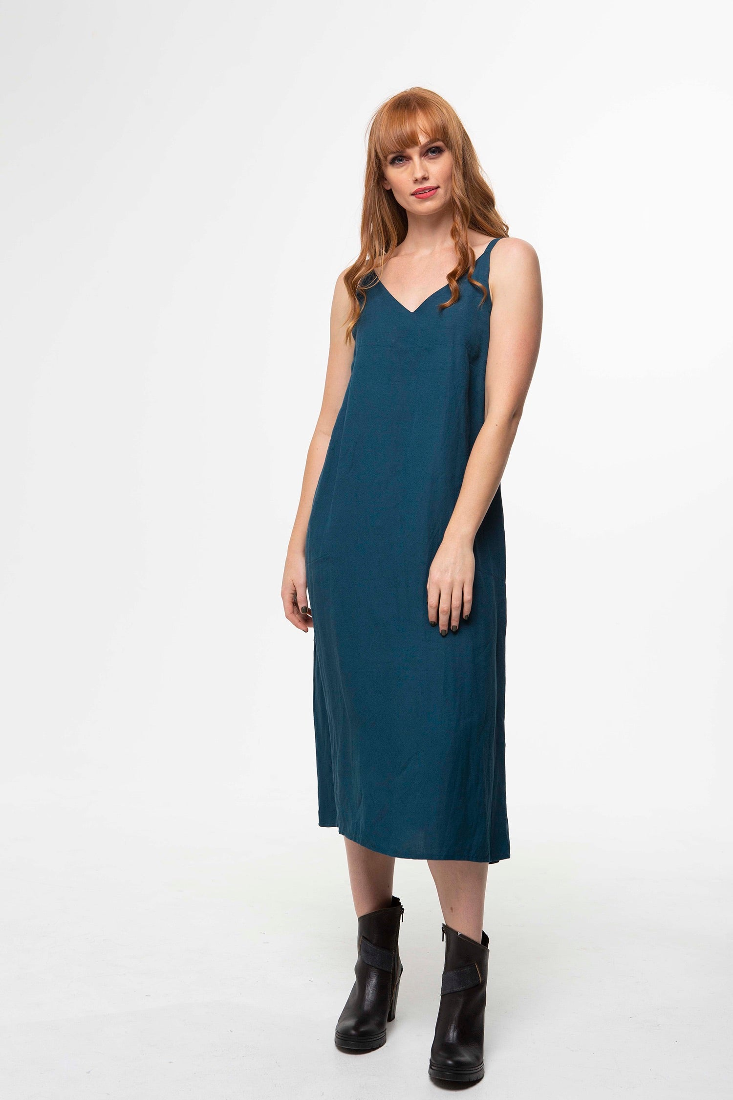 Juna Pocket Pinni Dress - Envy