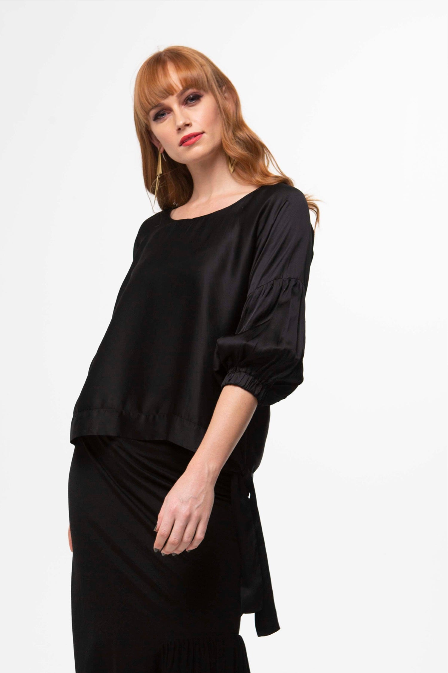 Juna Sash Demelza Top - Black