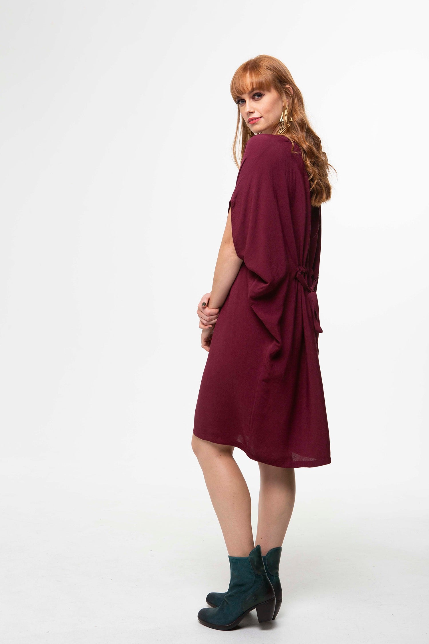 Juna Papillion Dress - Wine