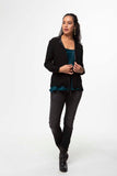 Vesta Gala Jacket - Black Crepe sateen