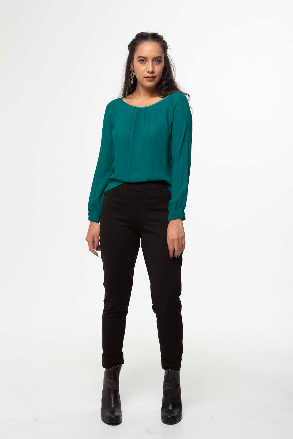 Vesta Raglan Top - Emerald