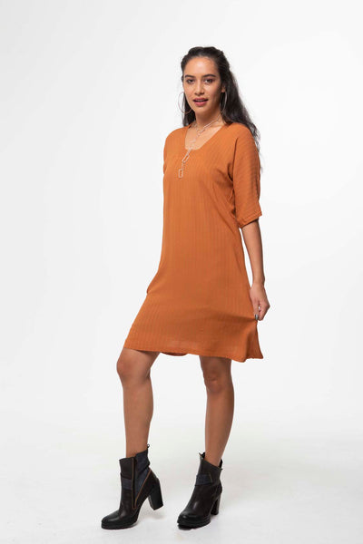 Vesta Halo Dress - Caramel was $198 now $148