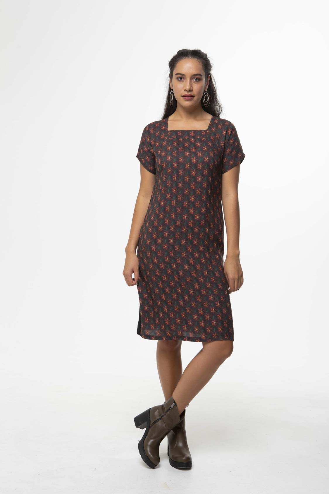 Vesta Mezzo Dress - Hedgerow