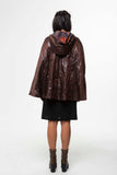 Vesta Hooded Rain Cape - Chocolat