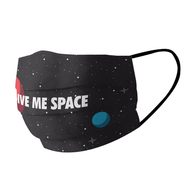 Give me space Cotton Face Mask Free Size Unisex