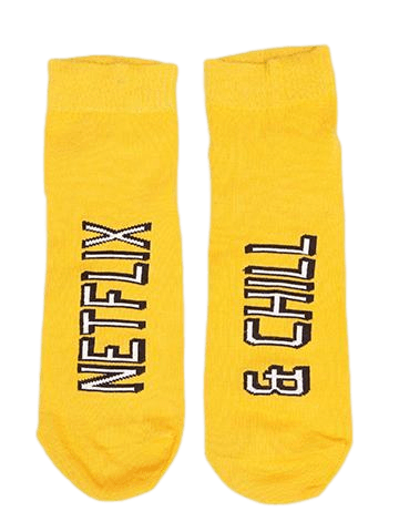 Netflix & Chill Yellow Socks