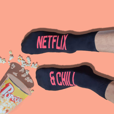 Netflix & Chill Black Socks